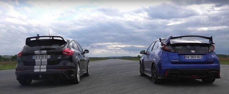 Vergleich Focus RS vs. Mercedes A45 AMG vs. Honda Civic Type R Video: Vergleich   Focus RS vs. Mercedes A45 AMG vs. Honda Civic Type R