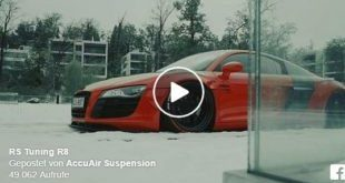 Widebody Audi R8 Accuair Liberty Rotiform tuning 1 e1466579244117 310x165 Video: Spaß im Schnee   AccuAir Audi R8 Widebody in Rot
