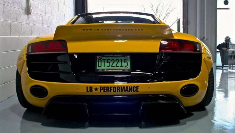 Yellow Liberty Walk Widebody Audi R8 V10 tuningblog.eu  Green Liberty Walk Widebody Audi R8 V10 by tuningblog.eu