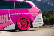 cherry 7down 2 0 edition vw golf 7r variant LC 105T Flamingo Pink Vossen Tuning 13 190x127 Tuning Projekt   Cherry 7down 2.0 Edition VW Golf 7R Variant