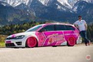 cherry 7down 2 0 edition vw golf 7r variant LC 105T Flamingo Pink Vossen Tuning 15 190x127 Tuning Projekt   Cherry 7down 2.0 Edition VW Golf 7R Variant