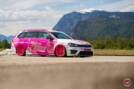 cherry 7down 2 0 edition vw golf 7r variant LC 105T Flamingo Pink Vossen Tuning 16 190x127 Tuning Projekt   Cherry 7down 2.0 Edition VW Golf 7R Variant