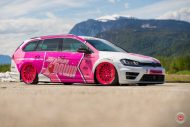 cherry 7down 2 0 edition vw golf 7r variant LC 105T Flamingo Pink Vossen Tuning 21 190x127 Tuning Projekt   Cherry 7down 2.0 Edition VW Golf 7R Variant