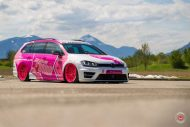 cherry 7down 2 0 edition vw golf 7r variant LC 105T Flamingo Pink Vossen Tuning 24 190x127 Tuning Projekt   Cherry 7down 2.0 Edition VW Golf 7R Variant