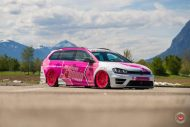 cherry 7down 2 0 edition vw golf 7r variant LC 105T Flamingo Pink Vossen Tuning 29 190x127 Tuning Projekt   Cherry 7down 2.0 Edition VW Golf 7R Variant