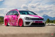 cherry 7down 2 0 edition vw golf 7r variant LC 105T Flamingo Pink Vossen Tuning 42 190x127 Tuning Projekt   Cherry 7down 2.0 Edition VW Golf 7R Variant
