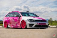 cherry 7down 2 0 edition vw golf 7r variant LC 105T Flamingo Pink Vossen Tuning 43 190x127 Tuning Projekt   Cherry 7down 2.0 Edition VW Golf 7R Variant