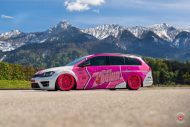 cherry 7down 2 0 edition vw golf 7r variant LC 105T Flamingo Pink Vossen Tuning 7 190x127 Tuning Projekt   Cherry 7down 2.0 Edition VW Golf 7R Variant