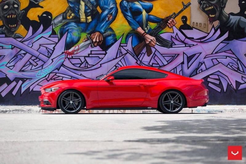 20 Zoll Vossen Wheels VFS5 Tuning Ford Mustang S550 Rot 3 20 Zoll Vossen Wheels VFS5 am Ford Mustang S550 in Rot