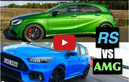 2016 Ford Focus RS gegen Mercedes AMG A45 Video: 2016 Ford Focus RS gegen Mercedes AMG A45