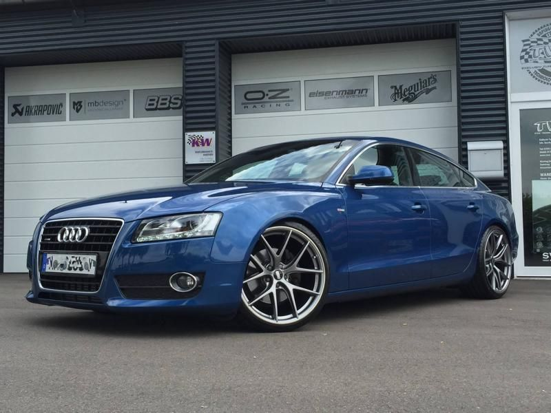 Audi A5 Coupe Tuning TVW Car Design BBS KW 1 Dezent & schick   Audi A5 Coupe vom Tuner TVW Car Design
