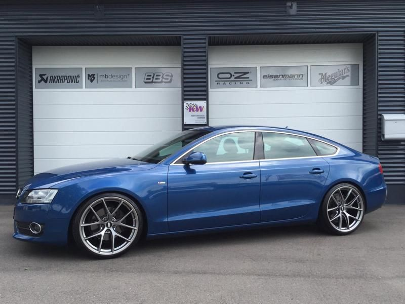 Audi A5 Coupe Tuning TVW Car Design BBS KW 2 Dezent & schick   Audi A5 Coupe vom Tuner TVW Car Design