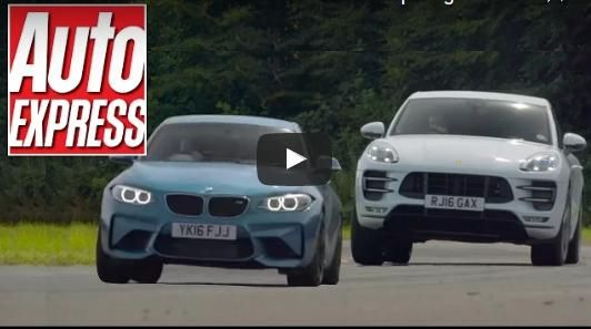 BMW M2 F87 vs. Porsche Macan Turbo Vergleich Video: Ungleich? BMW M2 F87 vs. Porsche Macan Turbo
