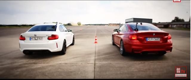 Dragerace 370PS BMW M2 F87 vs. 431PS BMW M4 F82 Video: Dragerace   370PS BMW M2 F87 vs. 431PS BMW M4 F82