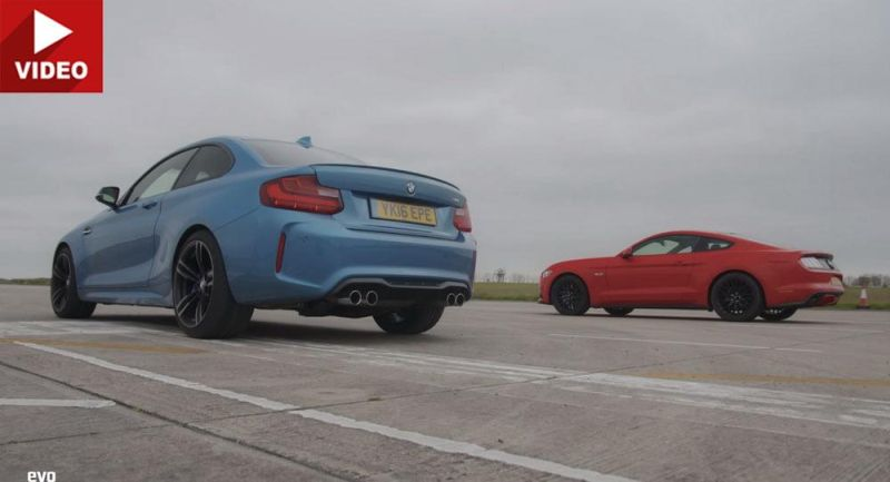 Dragerace BMW M2 F87 Ford Mustang V8 5.0 Tuning Video: Dragerace   BMW M2 F87 gegen Ford Mustang V8 5.0