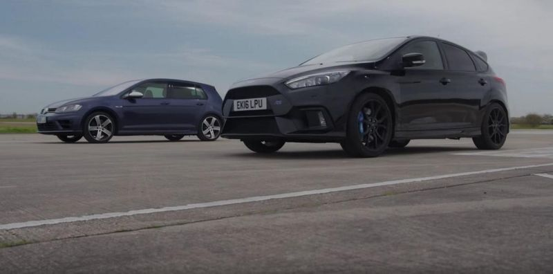 Dragerace Ford Focus RS vs. VW Golf R 7 MK7 Video: Dragerace   Ford Focus RS vs. VW Golf R 7 (MK7)