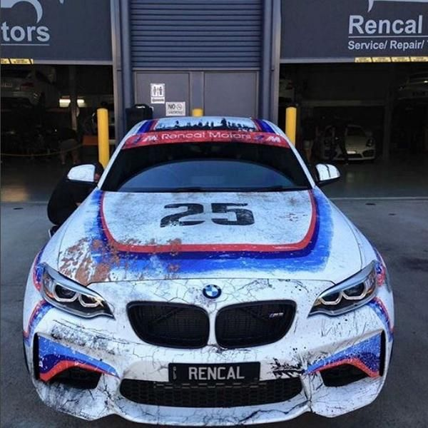 Folierung Wrap 1975er 3.0CSL Style Tuning BMW M2 F87 Coupe (6)