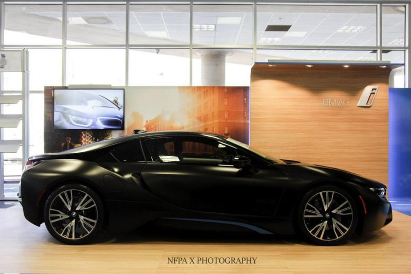 Frozen Black Bmw I8 Bmw Individual Colors Matte Black Wrap Tuning