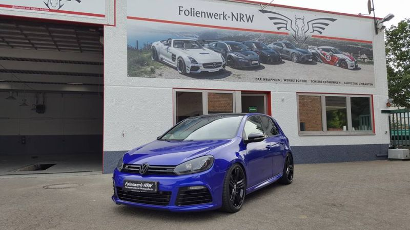 Gloss Blue Raspbery VW Golf 6 R MK6 Folienwerk NRW Wrap Tuning Folierung 1 Gloss Blue Raspbery VW Golf 6 R (MK6) by Folienwerk NRW