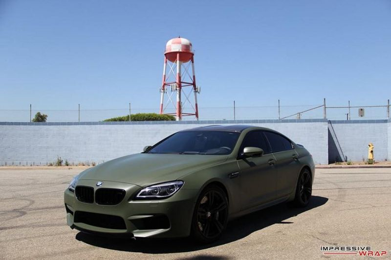 Impressive Wrap BMW M6 F12 Gran Coupe Military Gr%C3%BCn Tuning 2 Impressive Wrap   BMW M6 F12 Gran Coupe in Military Grün