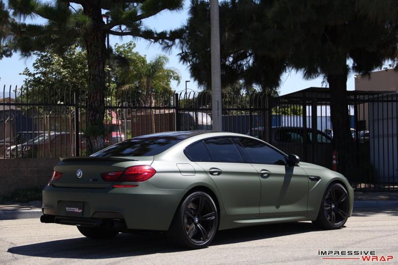 Impressive Wrap BMW M6 F12 Gran Coupe Military Gr%C3%BCn Tuning 3 Impressive Wrap   BMW M6 F12 Gran Coupe in Military Grün