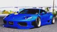 Liberty Walk Ferrari 360 Modena Bodykit Tuning 2 190x108 Fertig   Liberty Walk Widebody Kit für den Ferrari F360 Modena