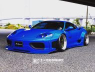 Liberty Walk Ferrari 360 Modena Bodykit Tuning 3 190x144 Fertig   Liberty Walk Widebody Kit für den Ferrari F360 Modena