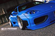 Liberty Walk Ferrari 360 Modena Bodykit Tuning 5 190x126 Fertig   Liberty Walk Widebody Kit für den Ferrari F360 Modena