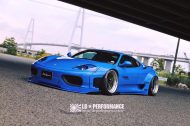 Liberty Walk Ferrari 360 Modena Bodykit Tuning 7 190x126 Fertig   Liberty Walk Widebody Kit für den Ferrari F360 Modena