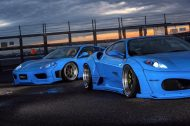 Liberty Walk Ferrari F430 F360 Bodykit Tuning 5 190x126 Fertig   Liberty Walk Widebody Kit für den Ferrari F360 Modena