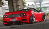Liberty Walk Widebody Kit Ferrari F360 Modena Spyder Tuning Carbon 7 190x114 Fertig   Liberty Walk Widebody Kit für den Ferrari F360 Modena