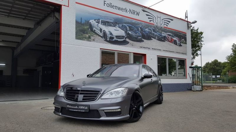 Mercedes Benz S Klasse W221 Folienwerk NRW Satin Dark Grey Folierung Wrap Tuning 1 Mercedes Benz S Klasse W221 by Folienwerk NRW