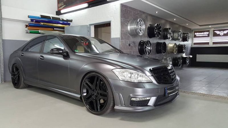Mercedes Benz S Klasse W221 Folienwerk NRW Satin Dark Grey Folierung Wrap Tuning 2 Mercedes Benz S Klasse W221 by Folienwerk NRW