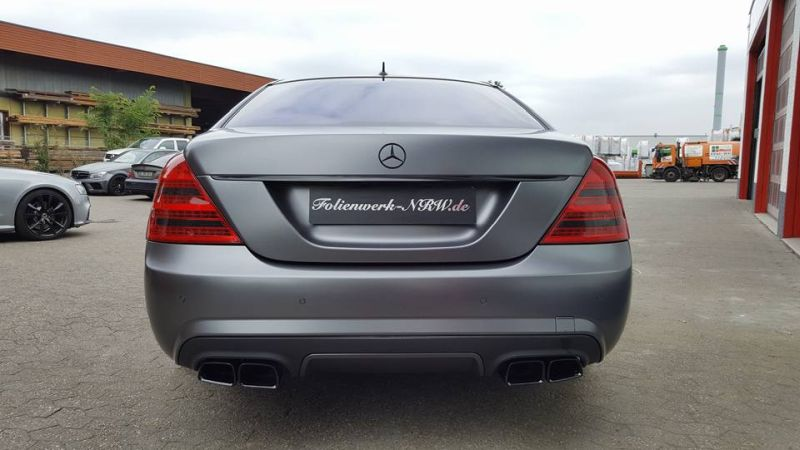 Mercedes Benz S Klasse W221 Folienwerk NRW Satin Dark Grey Folierung Wrap Tuning 3 Mercedes Benz S Klasse W221 by Folienwerk NRW