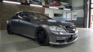 Mercedes Benz S Klasse W221 Folienwerk NRW Satin Dark Grey Folierung Wrap Tuning 4 190x107 Mercedes Benz S Klasse W221 by Folienwerk NRW