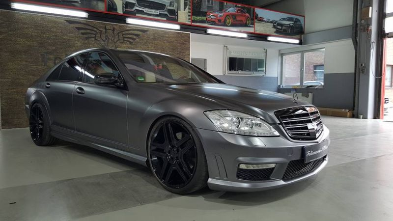 Mercedes Benz S Klasse W221 Folienwerk NRW Satin Dark Grey Folierung Wrap Tuning 4 Mercedes Benz S Klasse W221 by Folienwerk NRW
