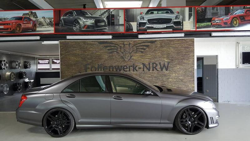 Mercedes Benz S Klasse W221 Folienwerk NRW Satin Dark Grey Folierung Wrap Tuning 5 Mercedes Benz S Klasse W221 by Folienwerk NRW