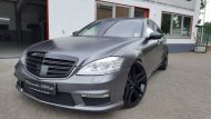 Mercedes Benz S Klasse W221 Folienwerk NRW Satin Dark Grey Folierung Wrap Tuning 6 190x107 Mercedes Benz S Klasse W221 by Folienwerk NRW