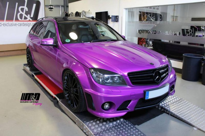 Mercedes C63 AMG Pink Arlon Premium Candy Tropical MD Exclusive Tuning 3 Pinke Power   Mercedes C63 AMG in Pink by M&D Exclusive