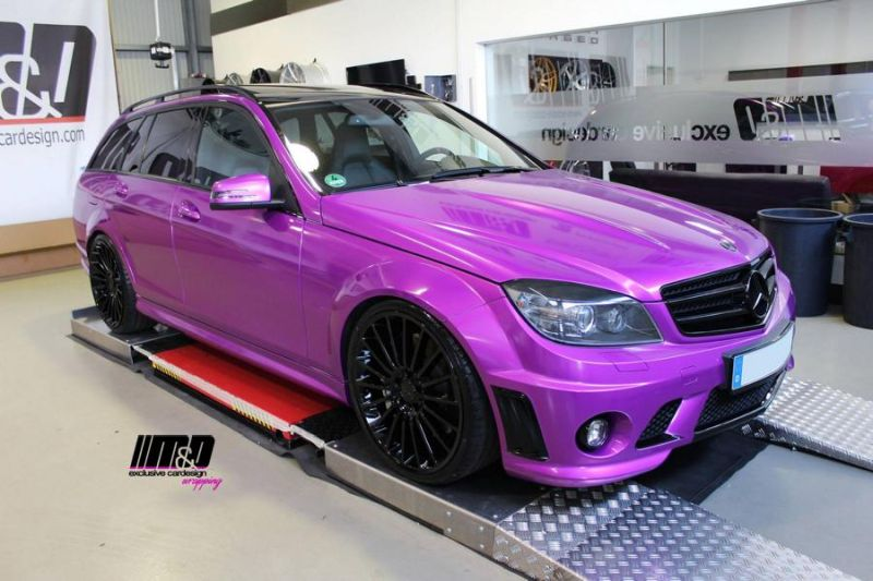 Mercedes C63 AMG Pink Arlon Premium Candy Tropical MD Exclusive Tuning 4 Pinke Power   Mercedes C63 AMG in Pink by M&D Exclusive