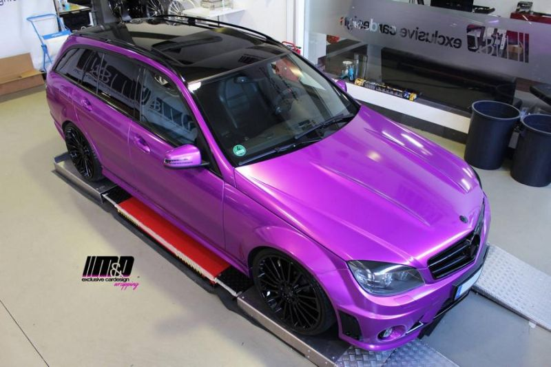 Mercedes C63 AMG Pink Arlon Premium Candy Tropical M&D Exclusive Tuning (7)