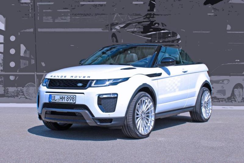 range rover evoque cabrio auf hamann anniversary alu s. Black Bedroom Furniture Sets. Home Design Ideas