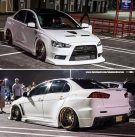 Tuning BBS Mitsubishi Evolution Lancer Widebody Turbo Gewinde EVO 350 135x137 Fotostory: Über 1.500 Mitsubishi Evolution Tuning Bilder