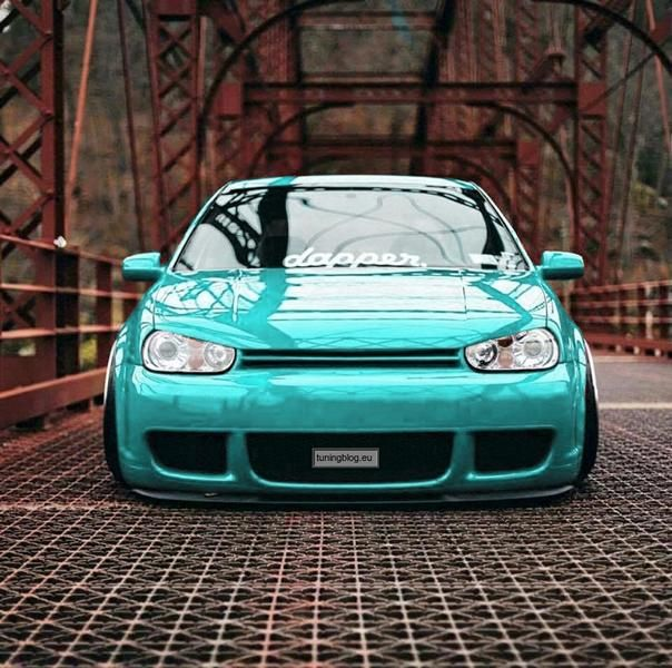 VW Golf 4 MK4 Tuning Tiffany Blue tuningblog.eu 1 VW Golf 4 MK4 im schicken Tiffany Blue by tuningblog.eu