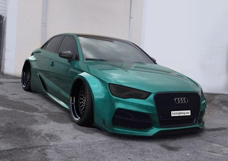 Widebody Audi A3 RS3 tuningblog.eu 2 Widebody Audi A3 S3 Limousine by tuningblog.eu