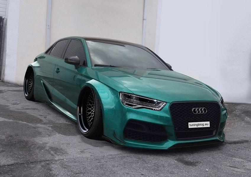 Widebody Audi A3 S3 RS3 A6 Scheinwerfer Tuning Widebody Audi A3 S3 Limousine by tuningblog.eu