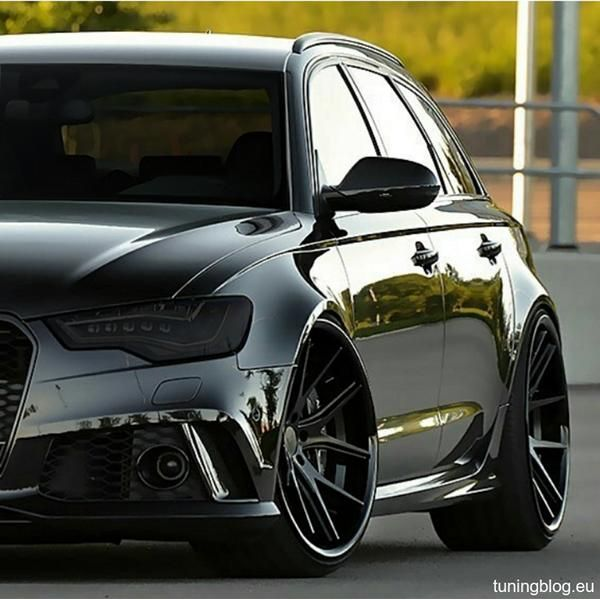 black audi rs6 c7 avant tuningblog.eu black eyes