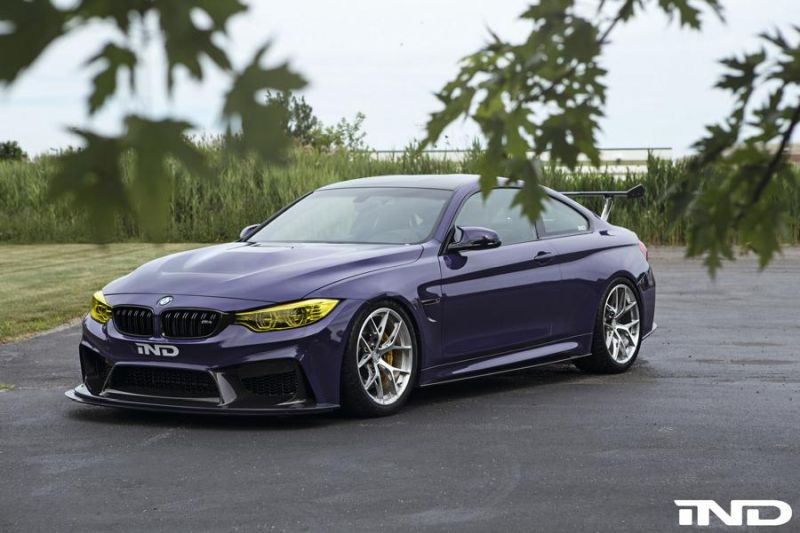 iND Distribution BMW M4 F82 Coupe Purple Tuning BBS KW Carbon (11)