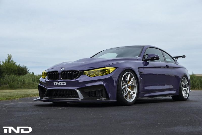 iND Distribution BMW M4 F82 Coupe Purple Tuning BBS KW Carbon (14)