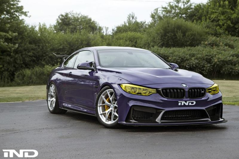 iND Distribution BMW M4 F82 Coupe Purple Tuning BBS KW Carbon (4)